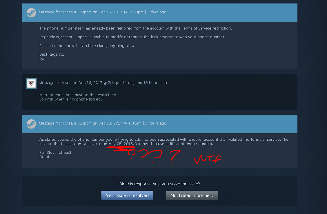 Steam phone number issue. - General Gaming - backpack.tf forums